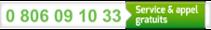 0 806 09 10 33 : Service & appel gratuits
