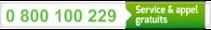 0 800 100 229 : Service & appel gratuits