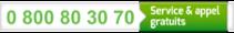 0 800 80 30 70 : Service & appel gratuits
