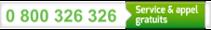0 800 326 326 : Service & appel gratuits