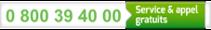 0 800 39 40 00 : Service & appel gratuits